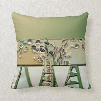 Mixed Media Green Brown American MoJo Pillows Throw Cushions