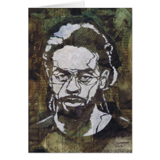 Mixed Media Stencil Art Contemporary Portrait Greeting Card