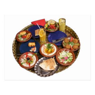 Mixed Mediterranean food Postcard