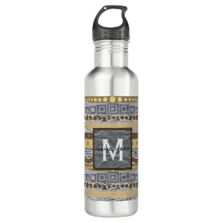 Mixed Metals Monogram Hydration Is Important 710 Ml Water Bottle