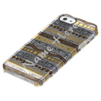 Mixed Metals Pattern iphoneSE Modern Typography Clear iPhone SE/5/5s Case