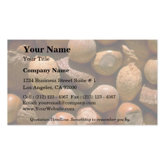 Mixed nuts in shells pack of standard business cards