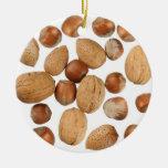 Mixed Nuts Round Ceramic Decoration