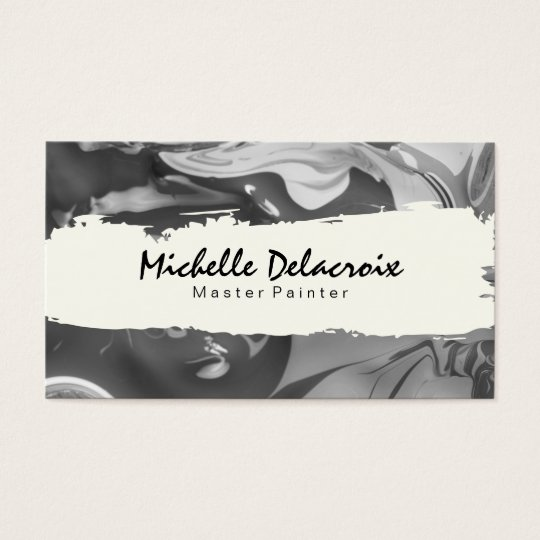 Mixed Paint | Black and White Business Card