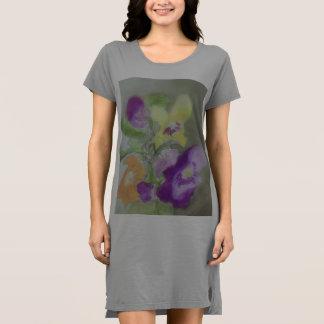 Mixed Pansies Dress