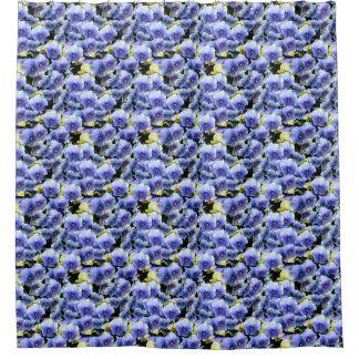 Mixed Pansies Shower Curtain