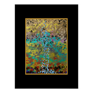 Mixed Pasta Abstract Design Poster