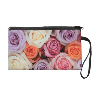 Mixed pastel roses by Therosegarden Wristlet Purses