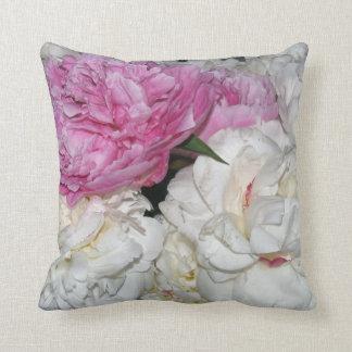 Mixed Peonies Throw Pillow
