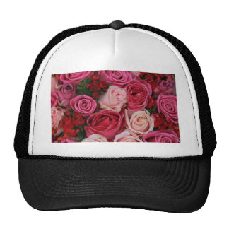 Mixed pink roses by Therosegarden Mesh Hat