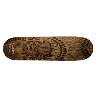 "Mixed-Polyesian ""Kulture Tattoo"" deck 18.4 Cm Mini Skateboard Deck"