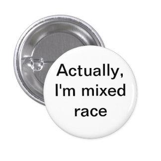 mixed race 3 cm round badge