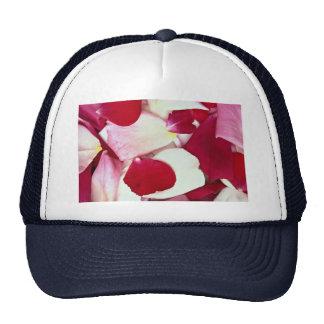 Mixed rose petals mesh hats