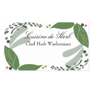 Mixed savory herbs chef catering business cards... pack of standard business cards