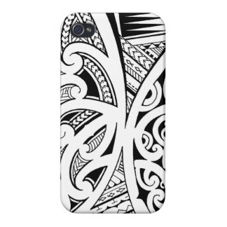 Mixed tattoo styles, Maori, Samoan and Polynesian Cover For iPhone 4