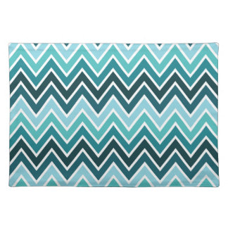 Mixed Teal Chevron Stripe Placemat