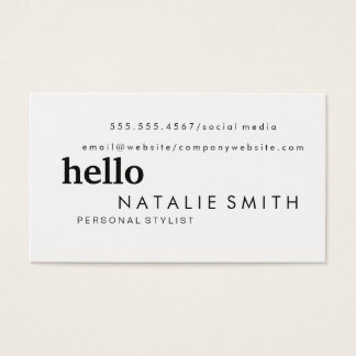 Mixed Text Business Card