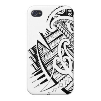 Mixed tribal tattoo design in Maori / Samoan style Case For iPhone 4