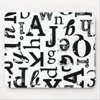 Mixed Typography Standard Mousepad
