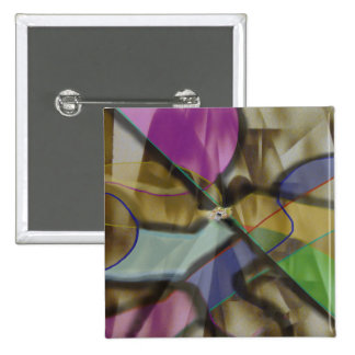 Mixed Up Colorful Abstract 15 Cm Square Badge