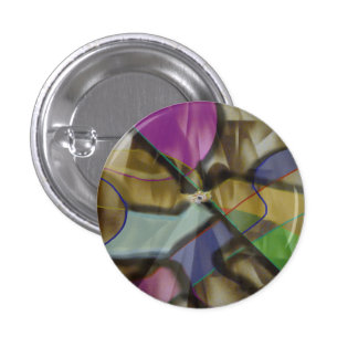 Mixed Up Colorful Abstract 3 Cm Round Badge