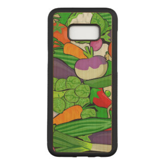 Mixed vegetables carved samsung galaxy s8+ case