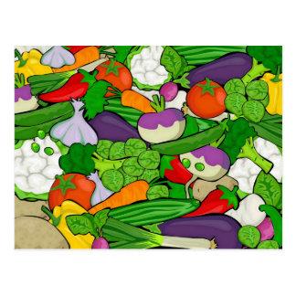 Mixed vegetables postcard