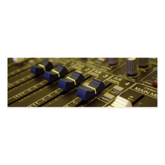Mixer Desk bookmark business card