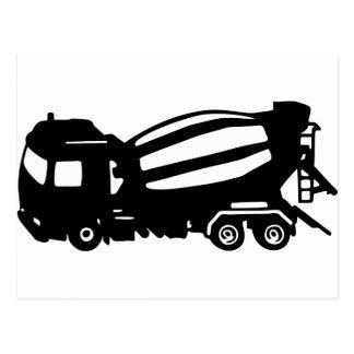 mixer truck postcard