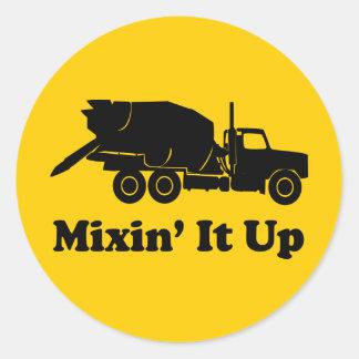 Mixin' It Up Round Sticker
