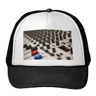 Mixing Board Closeup Hats