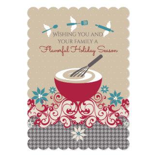 Mixing bowl whisk flying utensils Christmas card 13 Cm X 18 Cm Invitation Card