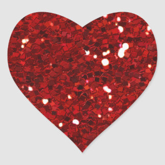 MIXMATCH CANDYAPPLE RED WHITE GLITTER BACKGROUND T HEART STICKER
