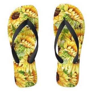MixNMatch Blooming Beautiful Sunflowers Flip Flops