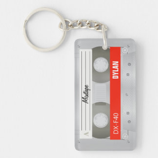 Mixtape old school cassette key ring