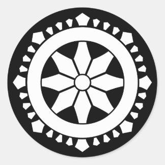 Miyake wheel treasure classic round sticker
