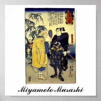 Miyamoto Musashi and the Fortune Teller c. 1800's Poster