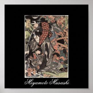 Miyamoto Musashi Painting c 1800 s Poster
