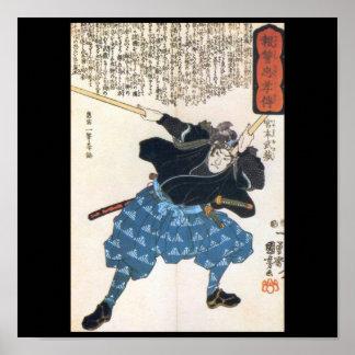 Miyamoto Musashi Painting c 1800 s Print