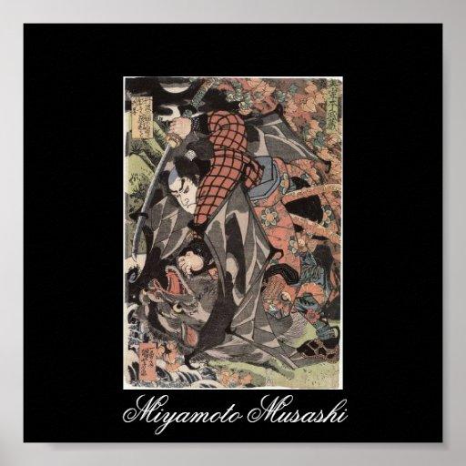 Miyamoto Musashi Painting, c. 1800's Poster