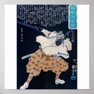Miyamoto Musashi Painting circa 1800 s Posters
