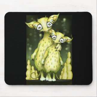 MIZOU & MIZA PET ALIENS  CARTOON MOUSE PAD