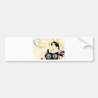 Mizuno Toshikata 水野年方, Courtesan - Asian Art Bumper Sticker
