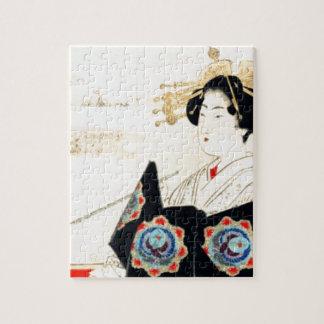 Mizuno Toshikata 水野年方, Courtesan - Asian Art Jigsaw Puzzle