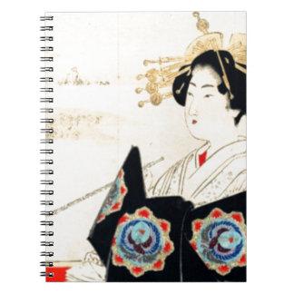 Mizuno Toshikata 水野年方, Courtesan - Asian Art Note Books