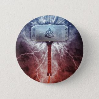 Mjolnir 6 Cm Round Badge