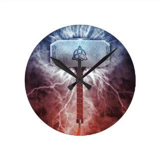 Mjolnir Round Clock