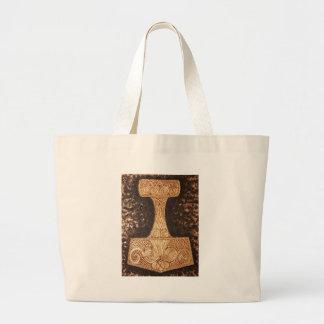 Mjolnir, thor's hammer large tote bag