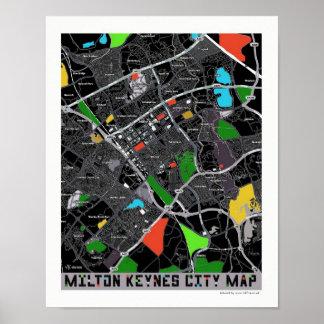MK City plan poster art/ print