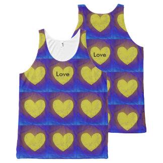 MKFMJ Love Heart's All-Over Print Tank Top